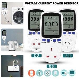 EU/UK/AU Plug AC Power Meters Digital Voltage Wattmeter Power Consumption Watt Energy Electricity Analyzer Monitors