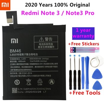 New Original BM46 High Capacity 4000mah Mobile Phone BM46 Battery For Xiaomi Redmi Note 3 note3 Pro/Prime Battery+Free Tools