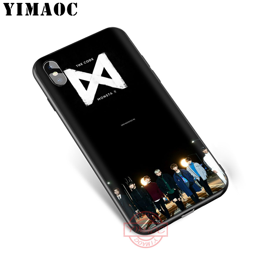 YIMAOC MONSTAX Monsta X kpop Soft Silicone Case for iPhone XR X XS Max 8 7 6S 6 Plus 5S SE TPU Cover in Fitted Cases from Cellphones Telecommunications