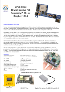 Image 5 - PoE Welt Raspberry Pi 4 4B 3B + 3B Plus Power Over Ethernet PoE HUT IEEE 802,3 af DC 5V 2A