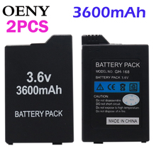 2pcsHigh capacity Replacement Battery for Sony PSP2000PSP3000 PSP 2000 3000 PSP S110 Gamepad for PlayStation Portable Controller