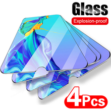 4 pçs capa completa de vidro temperado para huawei p40 p30 lite p20 pro protetor de tela protetora para huawei mate 20 30 p inteligente z vidro