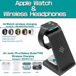 Image 4 - 3 en 1 chargeur sans fil pour Iphone 11/X Apple Watch Airpods Pro station daccueil de Charge sans fil pour Samsung S10 Samsung montre Galaxy bourgeons