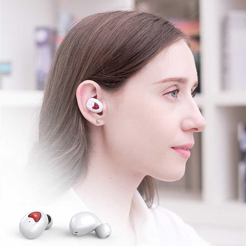 TW10 ชุดหูฟังบลูทูธ 6D สเตอริโอชุดหูฟังไร้สายแบบพกพาชุดหูฟังสเตอริโอกีฬาสำหรับสมาร์ทโฟน