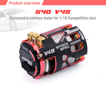 Surpass Hobby Rocket 540 V4S 8.5T 13.5T 17.5T 21.5T 25.5T Sensor Brushless Motor for Spec Stock Competition 1/10 1/12 F1 RC Car фото