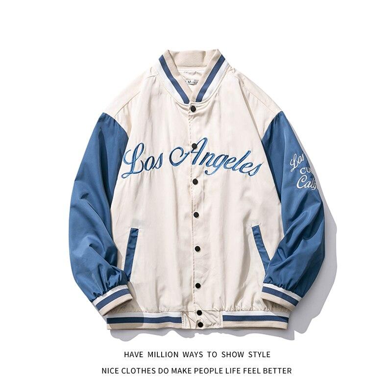 2021 New Spring & Autumn Embroid sottile Oversize da donna stile fidanzato giacca da Baseball Bomber da uomo coppia Unisex 2