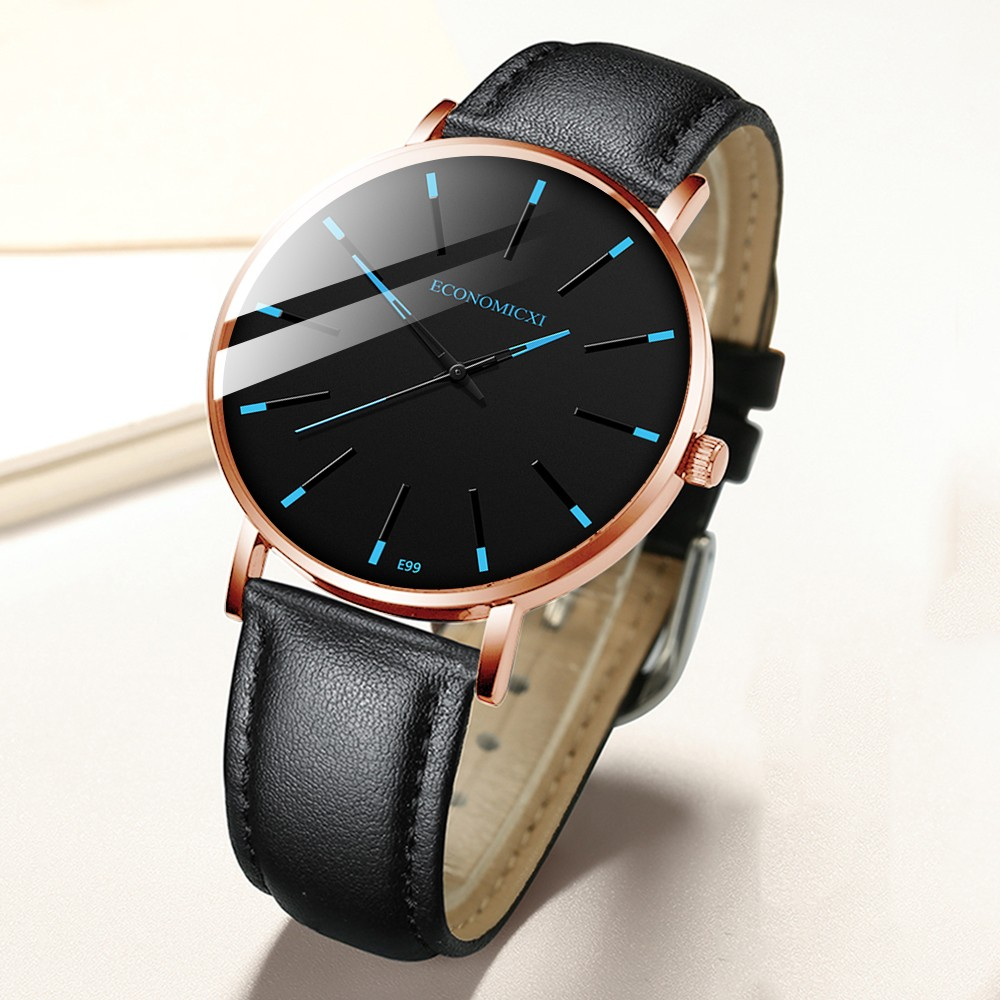 Homem relógio homem relógio novo relógio masculino esporte marca de luxo couro à prova dwaterproof água masculino relógio frete grátis