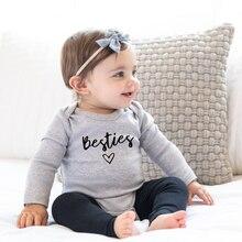 Besties Cute Baby Rompers Newborn Infant Baby Boy Girls Romp