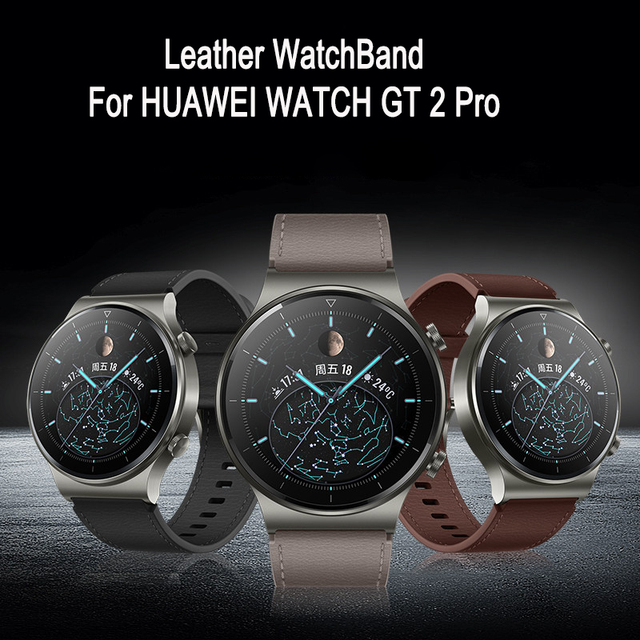 22mm Leather Band For Huawei Watch GT 2 Pro GT 2e Strap For SAMSUNG Galaxy Watch 46mm Galaxy Watch 3 45mm WatchBand Accessories