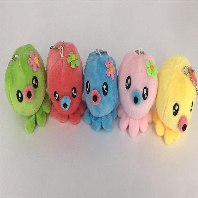 5colors Plush Toys , 7CM Key chain ocean animal Plush DOLL toy(China)