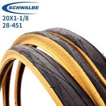 Велосипедные шины ONE DURANO 20 дюймов 451 20 × 1-1/8 28-451Yellow edge, велосипедные шины
