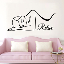 Pretty Spa relax Wall Stickers Pvc Decals For Salon Sticker Decor Mural Wallpaper Relax adhesivos para un spa