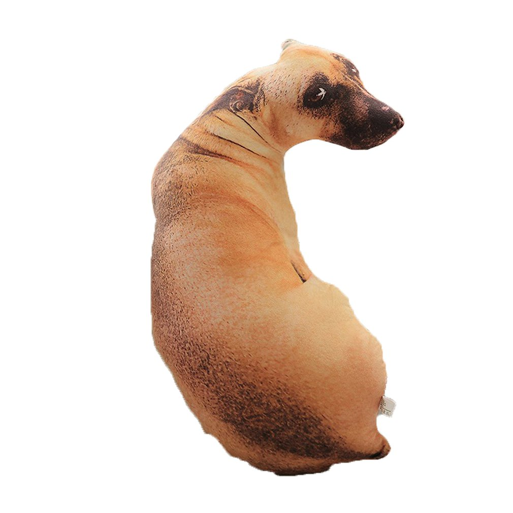 Подушка для собаки с 3D имитацией, шепи далматинской хаски, плюшевая подушка, подушка для офиса, для дома, практичная моющаяся подушка