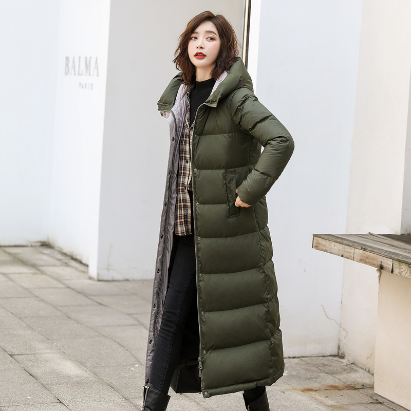 Winter X-Long Down Coat Female Brand Warm Duck Down Jacket Women Clothes 2019 Korean Streetwear Down Parka Hiver 1170496