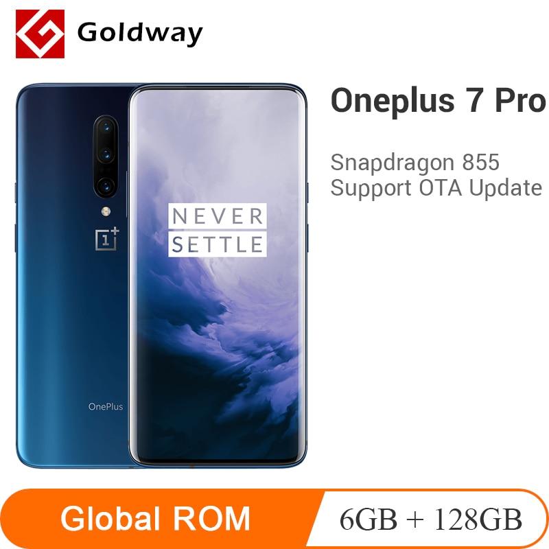 Em Estoque Original Oneplus 7 Pro 6GB 128GB Smartphone Snapdragon 855 Tela AMOLED Câmera Triplo 30 48MP W carregador 4000mAh NFC