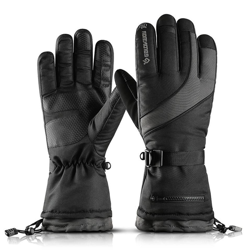 GOBYGO Ski Gloves Waterproof Gloves With Touchscreen Function Snowboard Gloves Warm Snowmobile Snow Gloves Men Women