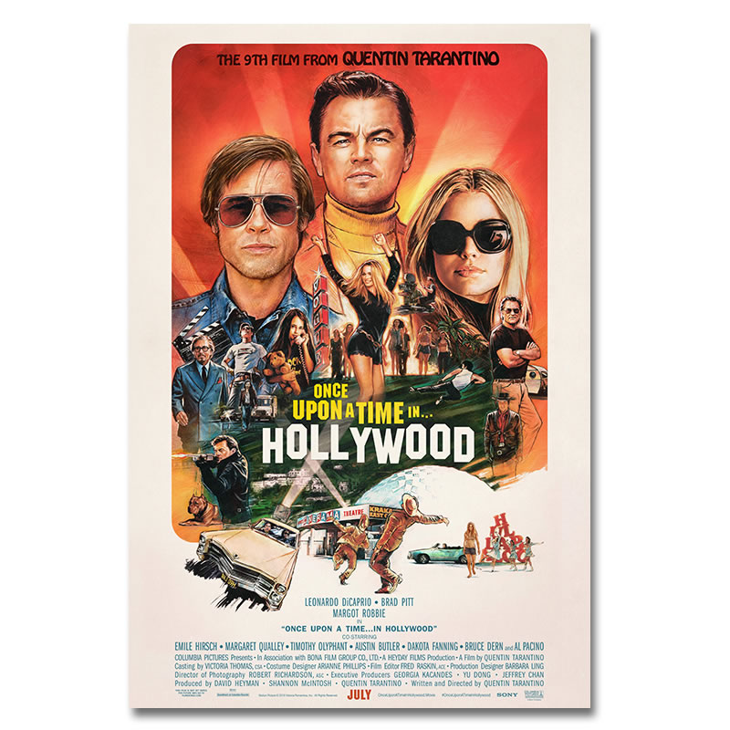 2019-new-movie-silk-poster-once-upon-a-time-in-hollywood-retro-art-prints-vintage-wall-decor-pictures-quentin-font-b-tarantino-b-font-posters