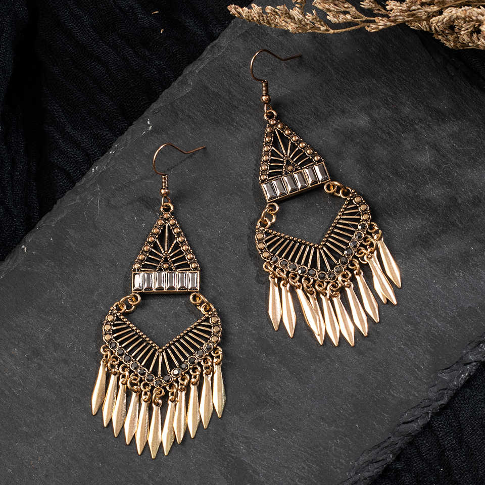 Boho Vintage Ethnic Dangle Drop Long Earrings Hanging Gifts for women  for Women Female Fashion Hanging Jewelry Accessories
