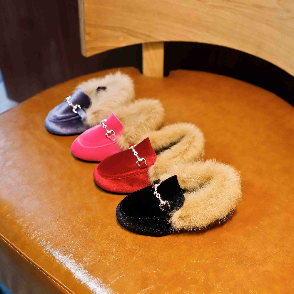 Winter-Kids-Fur-Shoes-Baby-Girls-Warm-Flats-Children-PU-Leather-Princess-Shoes-Toddler-Brand-Black (2)