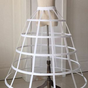 Image 4 - Womens Hollow Out Caged 5 Hoop Bustle Victorian Petticoat Skirt Wedding Bridal Dress Cosplay Pannier Crinoline Underskirt Slip