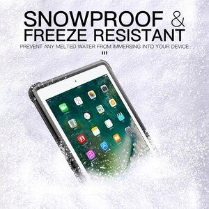Image 5 - Pour iPad 9.7 2017 2018 étui étanche antichoc anti poussière housse de tablette avec support réglable intégré protecteur décran