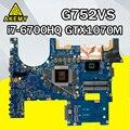 G752VS Motherboard For Asus G752VM G752VMK G752VS G752VSK Laptop motherboard G752VS Motherboard test 100% OK GTX-1070 I7-6700HQ