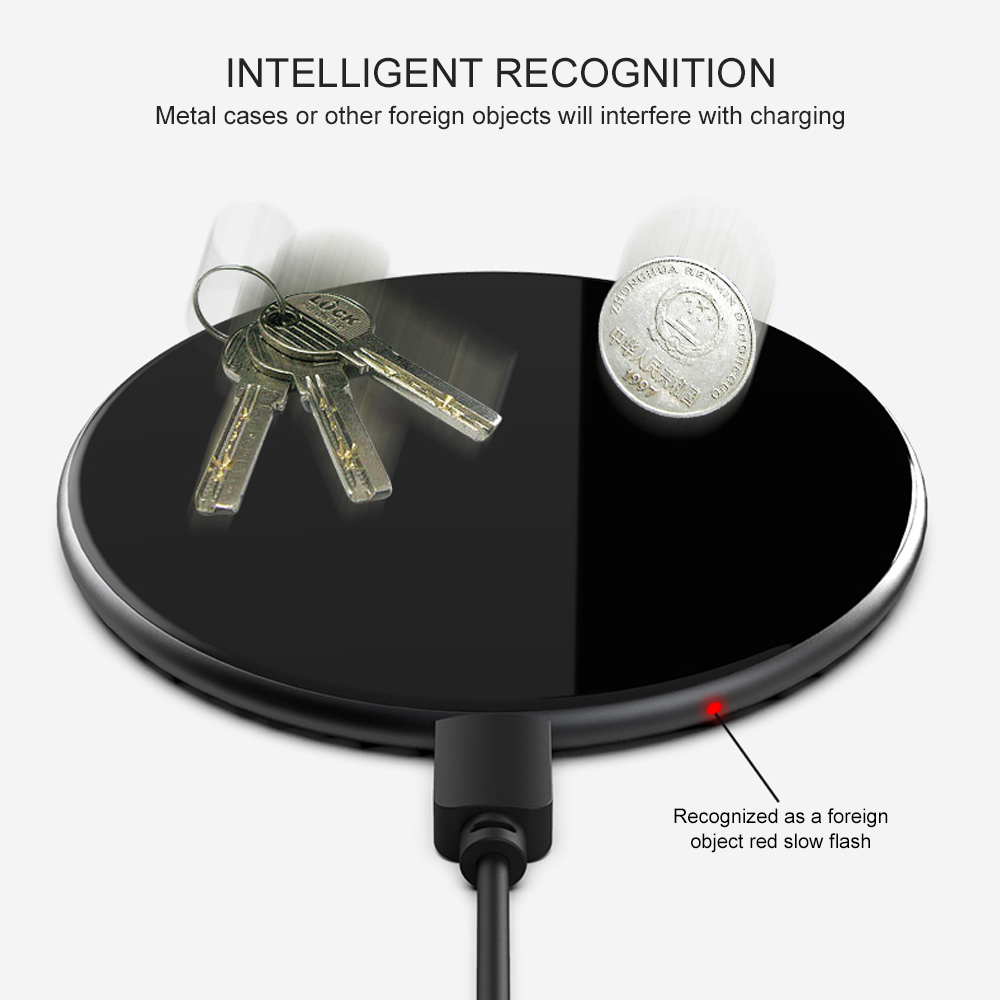 Image 5 - Ascromy 15W Wireless Fast Charger For Samsung S10 Huawei P30 Pro Xiaomi  Qi Wireless Charging Pad Induction 7.5W For iPhone X XR-in Mobile Phone Chargers from Cellphones & Telecommunications