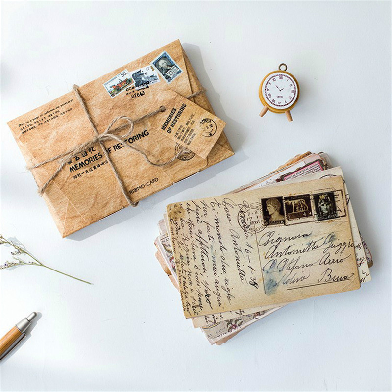 30pcs/box Retro Memories Of Stationery Greeting Creative Style Gift Postcards Vintage Postcard Restoring Writing