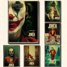 Cartel Vintage, nueva película, cartel Retro del Joker, póster de papel kraft impreso, carteles de pared para la decoración de la habitación del Bar del hogar