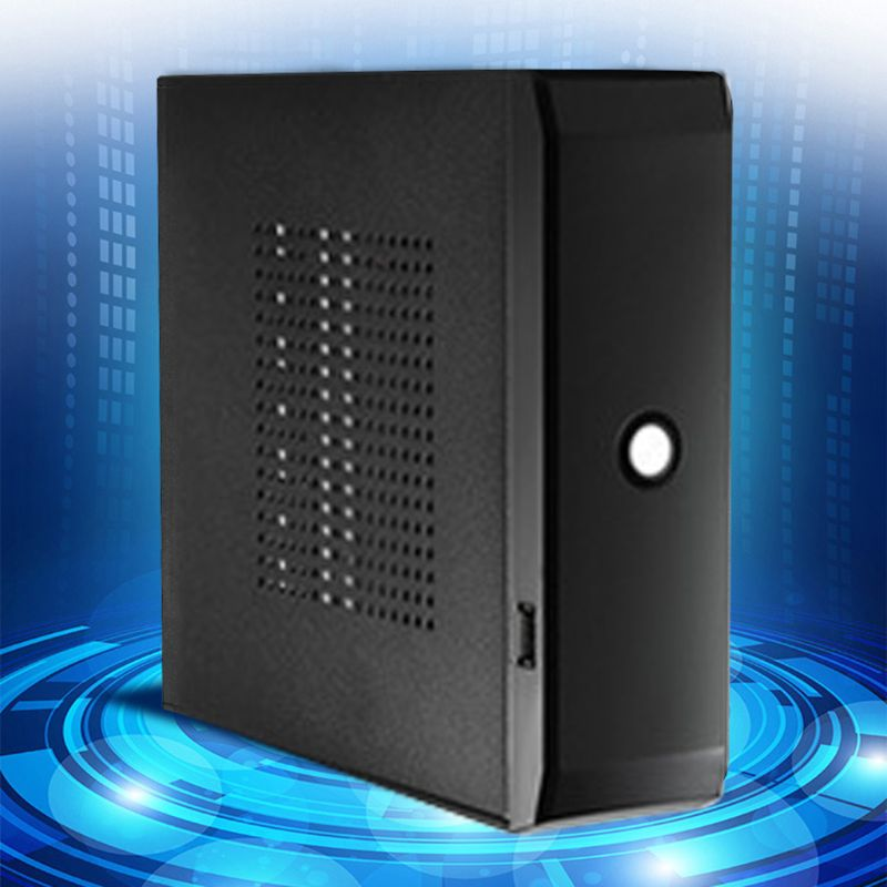 Practical Power Supply Home Office Host Enclosure HTPC Computer Case Box 2.0 USB Desktop Gaming PC Chassis FH01 Mini ITX 6