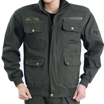 German Men Us Army Tactical Combat Jacket Camouflage Military Style Cotton Fabric Green Work Uniform Clothing Suit