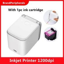 Mbrush mini impressora a cores portátil texto personalizado smartphone impressão sem fio impressora a jato de tinta 1200dpi com cartucho de tinta