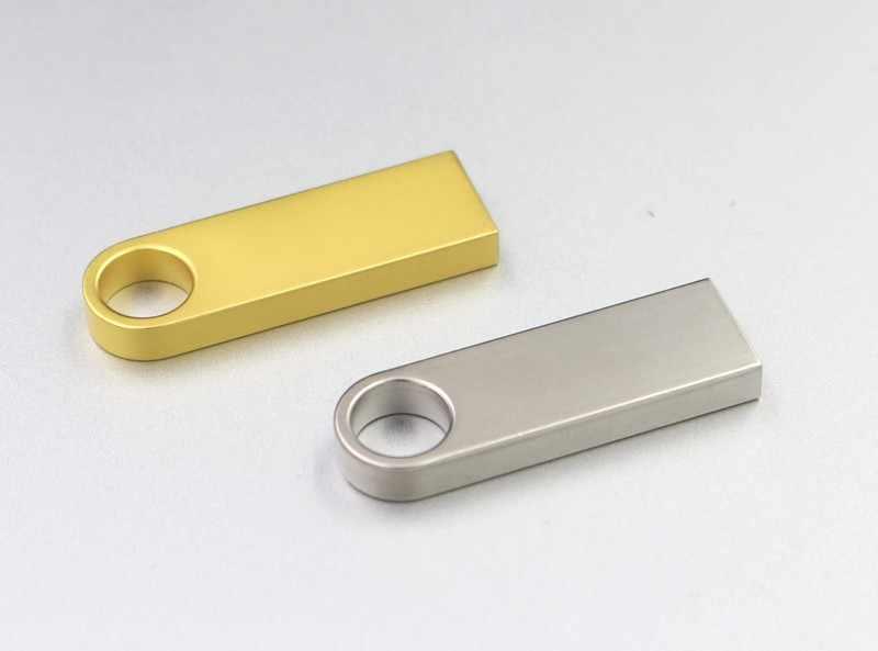 Nouveau lecteur flash usb 128GB 64GB 32GB 16GB 8GB clé usb étanche métal argent u disque mémoire cel clé usb gif