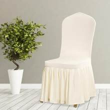 Christmas Chair Covers Detachable Pleated Skirt Stretch Slipcover Chair Cover for Hotel Wedding Dining Room(China)