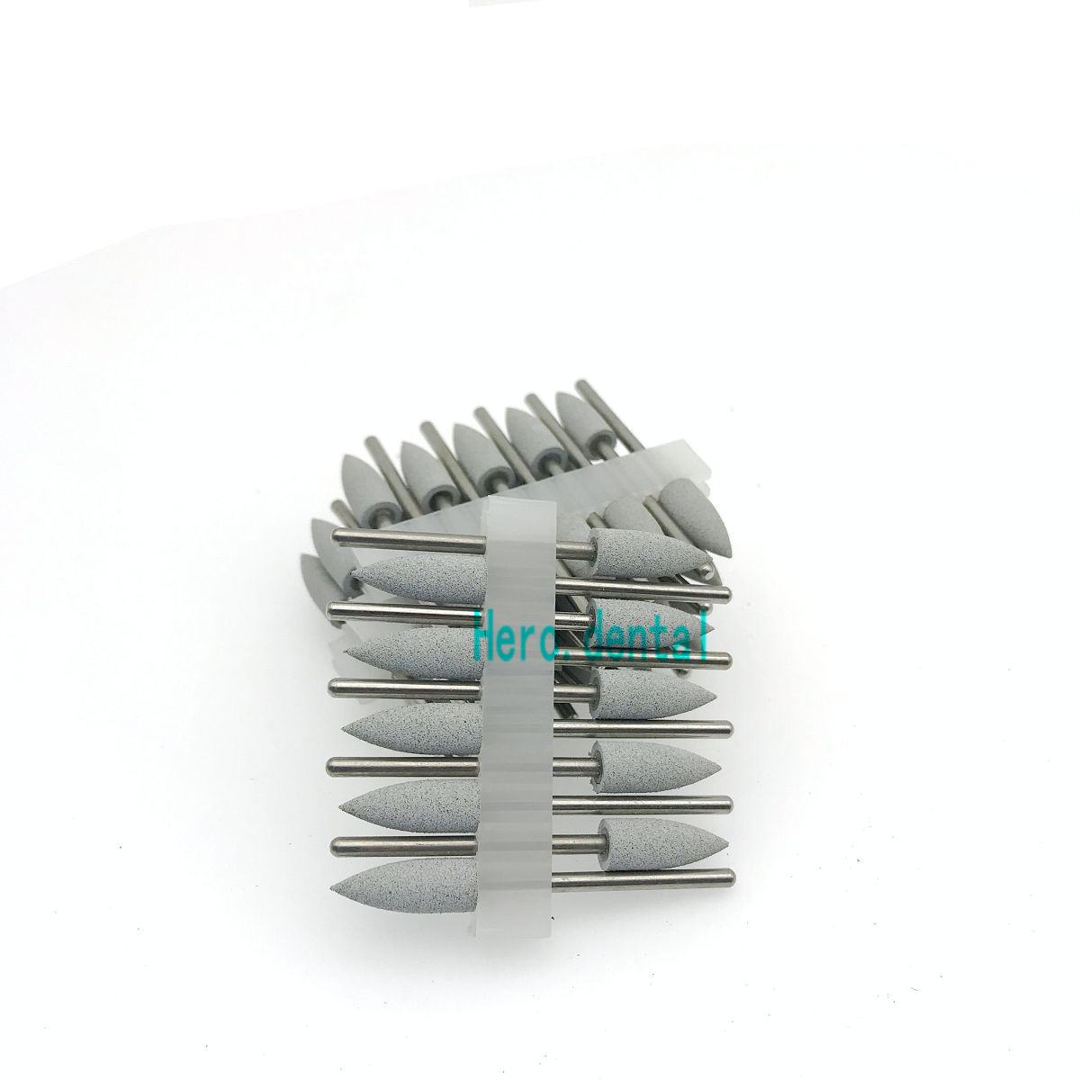 Type 406 Dental Silicone Rubber Resin Base Hidden Denture Polishing Burs Model Grey