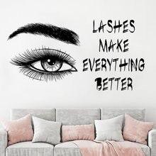 Ресницы наклейка на стену макияж брови ресницы переводка красивая