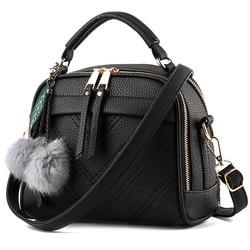 Lanlou sacos para mulheres 2019 moda hairball feminina bolsa de ombro bolsas de luxo bolsas femininas designercasual crossbody saco para mulher
