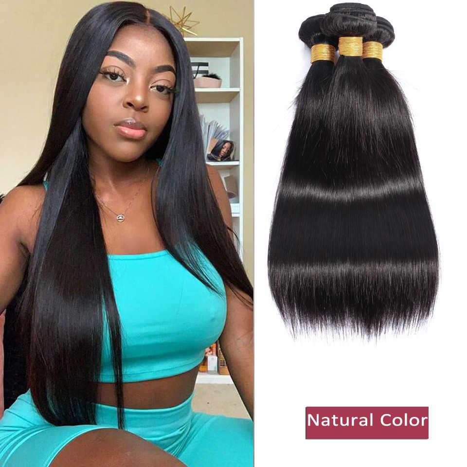 Güzellik GRACE 8-26 inç düz saç demetleri insan saç demetleri remy saç ekleme brezilyalı saç örgü demetleri