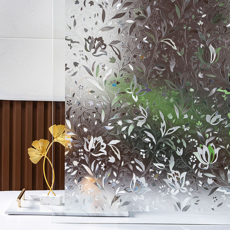 tulip Privacy Window Film 3D Static Decoration Electrostatic film for UV Blocking Heat Control Glass Window Stickers