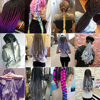 105 Color 24 Inch Afro Jumbo Ombre Braiding Hair Extension Pre Stretched Synthetic Hair Accessories Make For Box Twist Braids 6