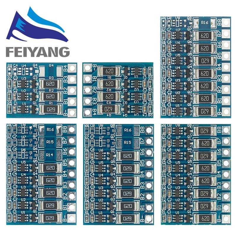 5S 21V 4,2 V баланс функция защиты доска 68mA 5S литий-ионная Lipo батарея литиевая 18650 батареи сбалансированные 3S 4S 5S 6S 7S 8S