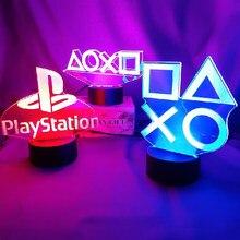 Konfiguracja gier 3D lampki nocne Touch Led dekoracje stołu lampy dekoracja pokoju do gier oświetlenie dekoracyjne lampa dla dzieci prezent Xbox Light