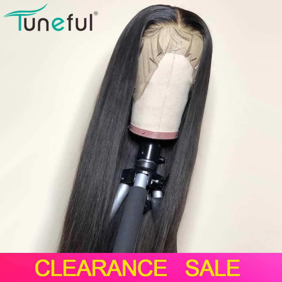 Koronki przodu peruki z ludzkich włosów prosto wstępnie oskubane włosy z włosów dla dzieci 8-26 Cal 13x4 150% malezyjski Remy ludzki włos koronki przodu peruki