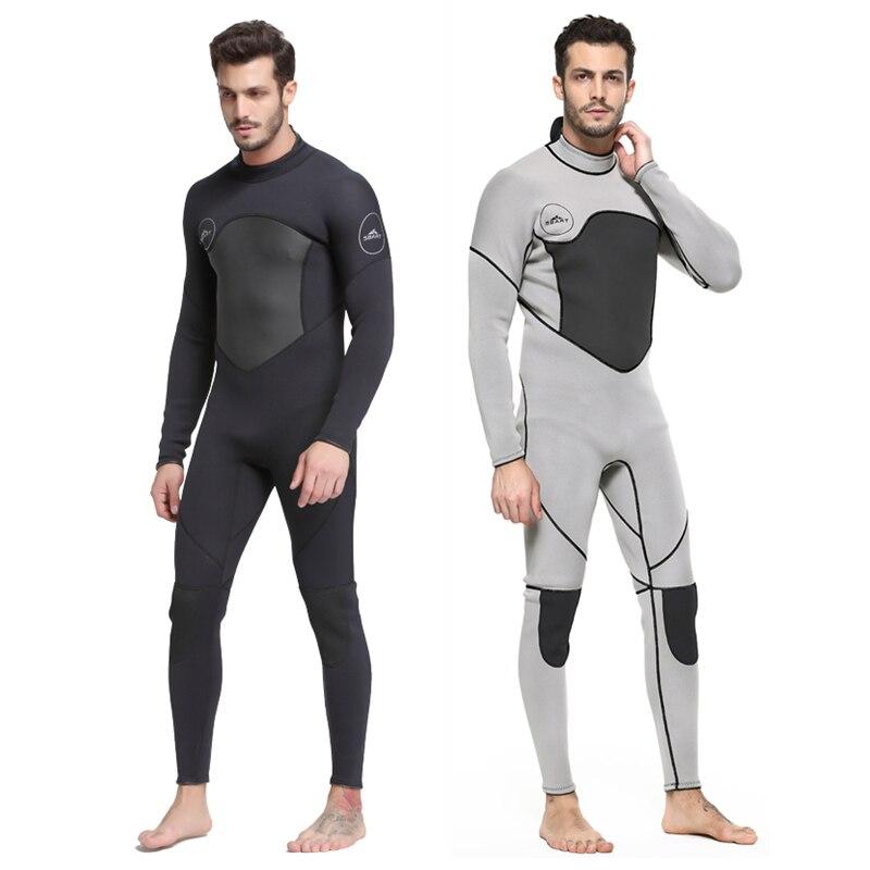 Date 3mm néoprène combinaison hommes femmes maillot de bain équipement pour la plongée sous-marine natation surf chasse sous-marine costume Triathlon combinaisons - 2