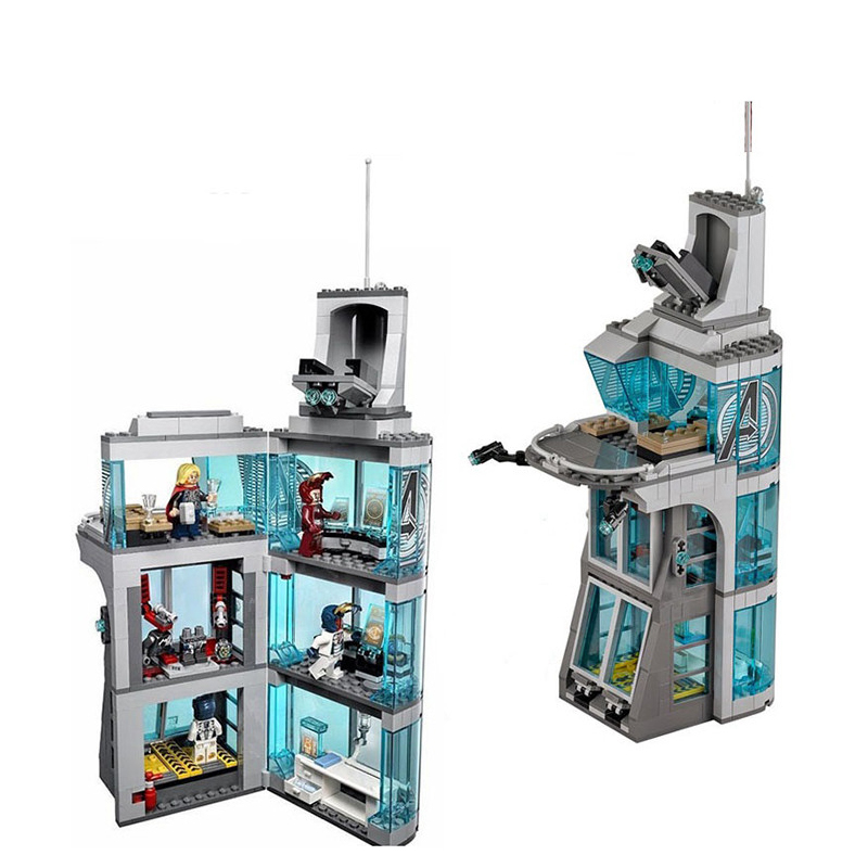 Image 3 - Upgraded Version SuperHeroes Ironman Compatible Legoinglys Marvel Avenger Tower Fit  Avengers Gift Building Block Bricks Toys-in Blocks from Toys & Hobbies
