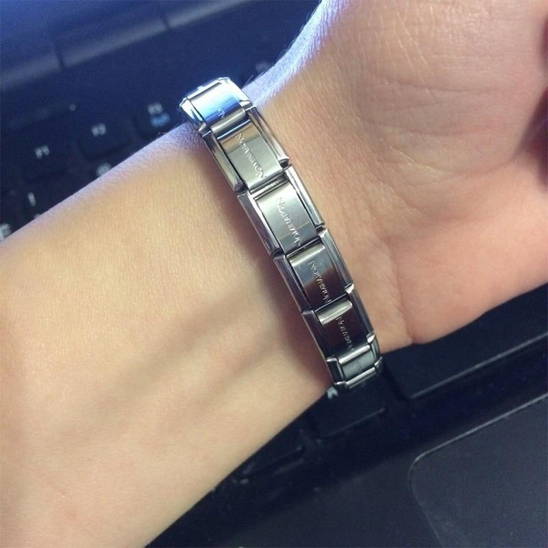 Viking Bracelet Lettering Elastic Stainless Steel Bracelet Ladies Men Charming Steel Bracelet Width 9 Mm Length175 Mm Weight 15g