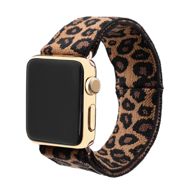 Stretchy Loop Strap For Apple Watch Band 40mm 38mm 44mm 42mm Iwatch Apple Watch Series 5/4/3/2/1 Double-Layer Stretch Wristbelt