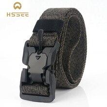 HSSEE магнитный тактический ремень высокого качества полиэфирное волокно официальный аутентичный спортивный пояс материал защиты окружающей среды