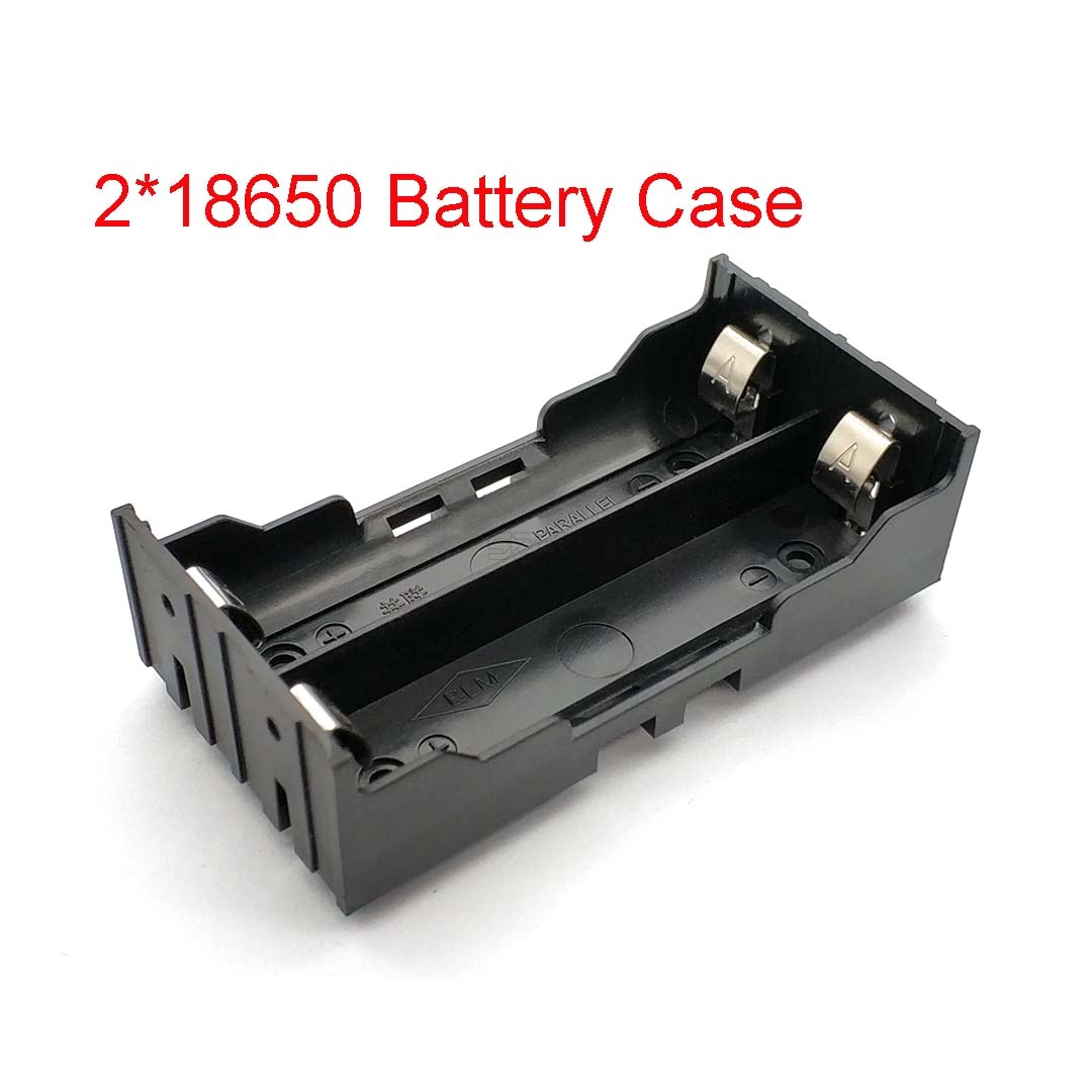 Plastic DIY Lithium Battery Box Battery Holder With Pin Suitable For 2 * 18650 (3.7V-7.4V) Lithium Battery Case High Qua