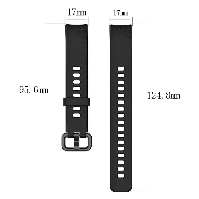 FIFATA Silicone Watch Strap For Honor Band 4 5 Wristbands Accessories Replacement Sport Strap For Huawei Honor Band 5 4 Bracelet 6